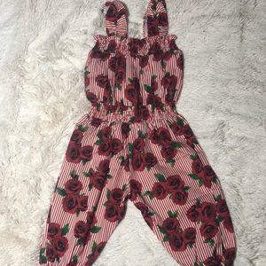 rose pinstripe jumpsuit!